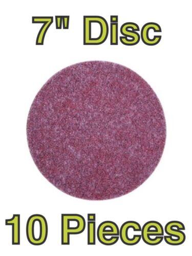 "3M Scotch-Brite Roloc 7/"" Light Grinding Blending Sanding Disc 60352 Qty 10"