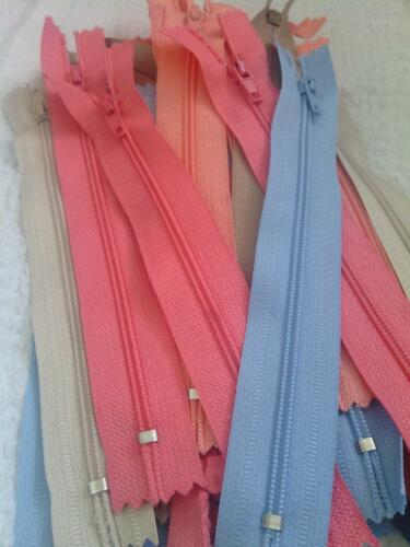 """lot of 100 Assorted wholesale mix different colors nylon zippers 6/"""""""