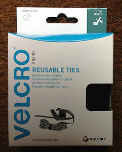 VELCRO-60254-SELF-GRIPPING-ADJUSTABLE-REUSABLE-TIES-CABLE-TIDY-30mm-x-5m