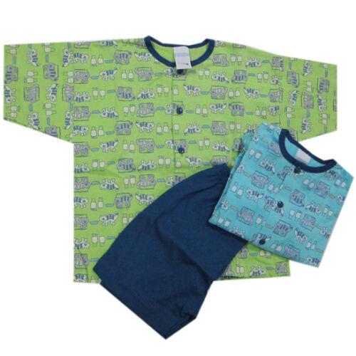 Kanz Nachtwäsche Schlafanzug Kurz Türkis Grün Shirt Hose Baby Jungen Gr 80