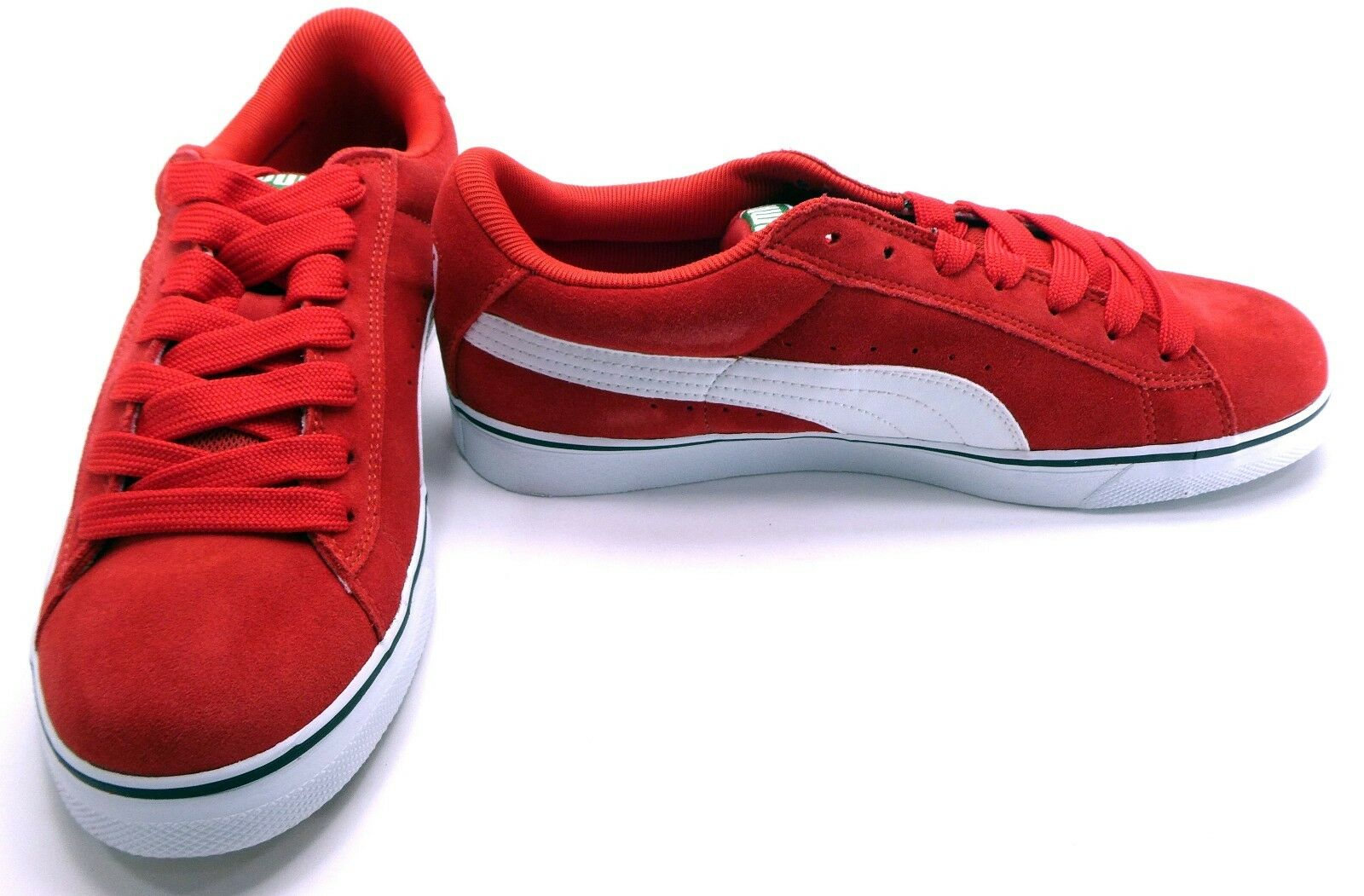 Puma Shoes Suede Vulcan Athletic High Risk Red  Size 9