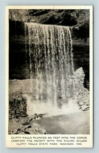 Madison-IN-Clifty-Falls-State-Park-Gorge-Indiana-Vintage-Postcard-Z32
