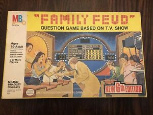 Details about VTG 1983 Family Feud 6th Edition Home Game By Milton Bradley  Complete Boardgame