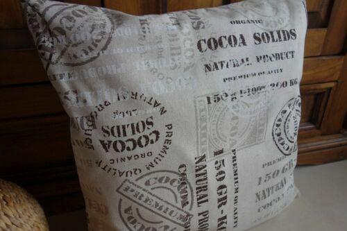 """Baumwollmischung Tischdecke Rund /""""Cocoa Solids/"""" Natur Vintage"""