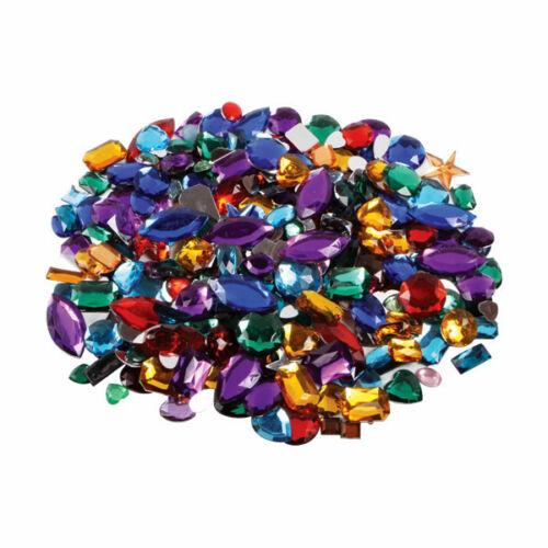 Pierres Précieuses Coloré Joyaux En Acrylique 250g Environ 400 Assorti