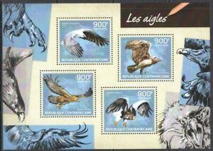 Republica-Centroafricana-2014-las-Aguilas-Yvert-N-3194-A-3197-Nueva-MNH