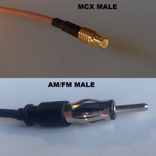 RG316 MCX MALE to AM//FM MALE Coaxial RF Cable USA-US