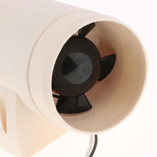 "12V In Line Boat Bilge Blower Cool Fan Marine Cabin Ventilation 3/"" 75mm"