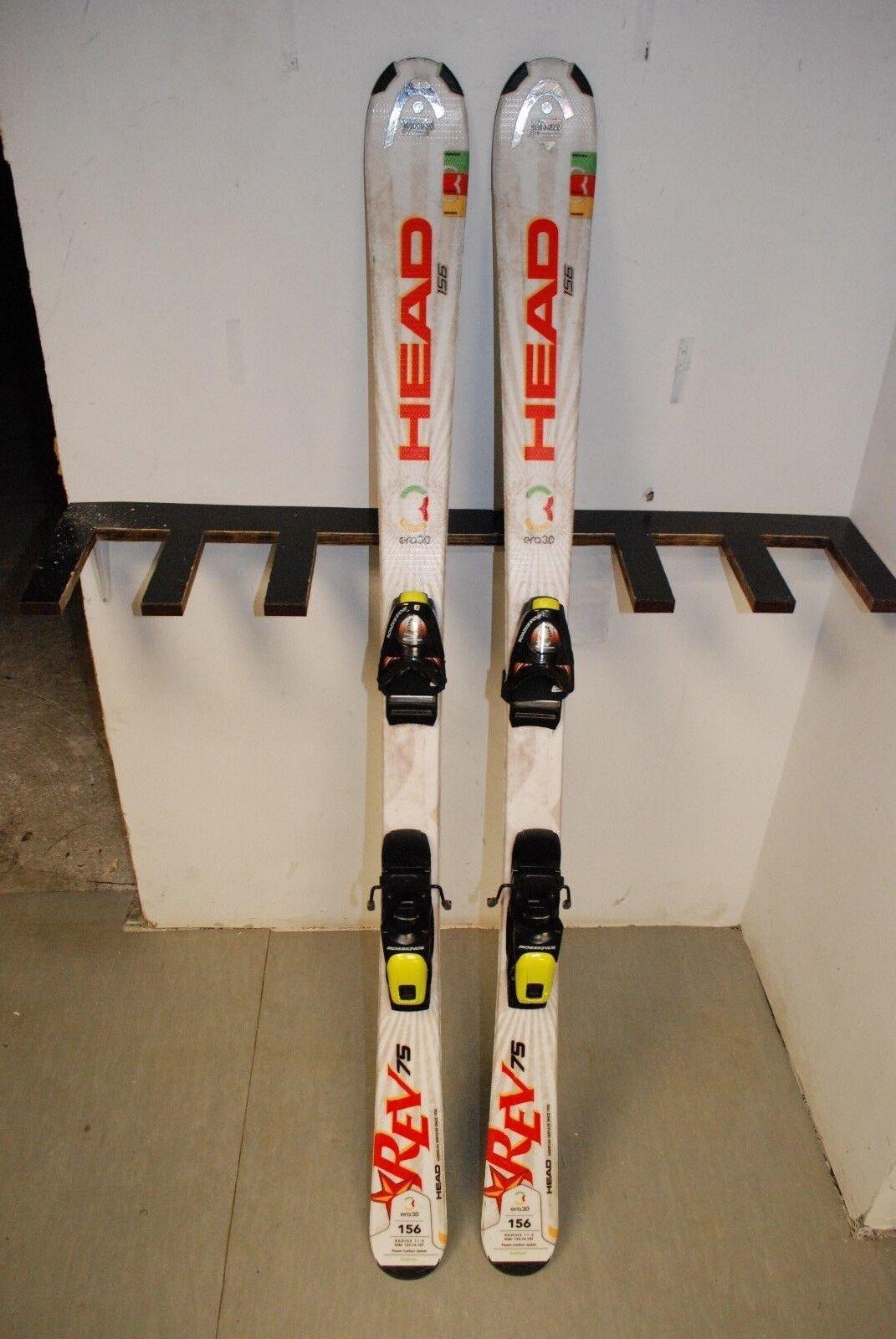 HEAD REV 75R 156 cm Ski + Rossignol FD  80 10.0 Bindings  best price