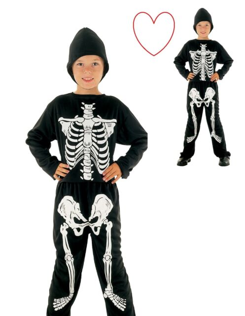Chicos huesos Chicas Mono Niños Halloween Vestido disfraz elaborado esqueleto Todas Las Tallas