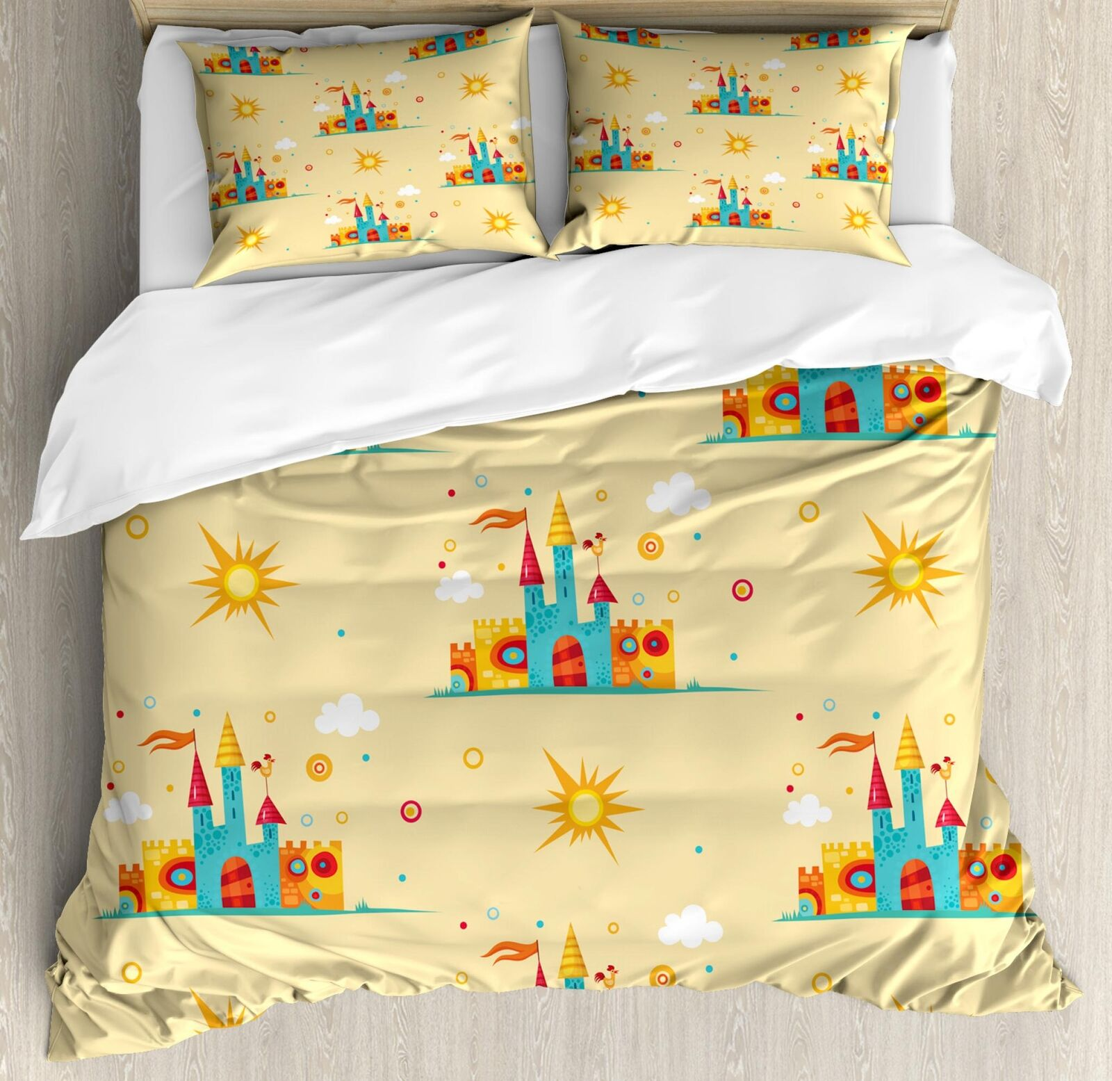 Fairy Tale Duvet Cover Set Twin Queen King Dimensiones with Pillow Shams Bedding