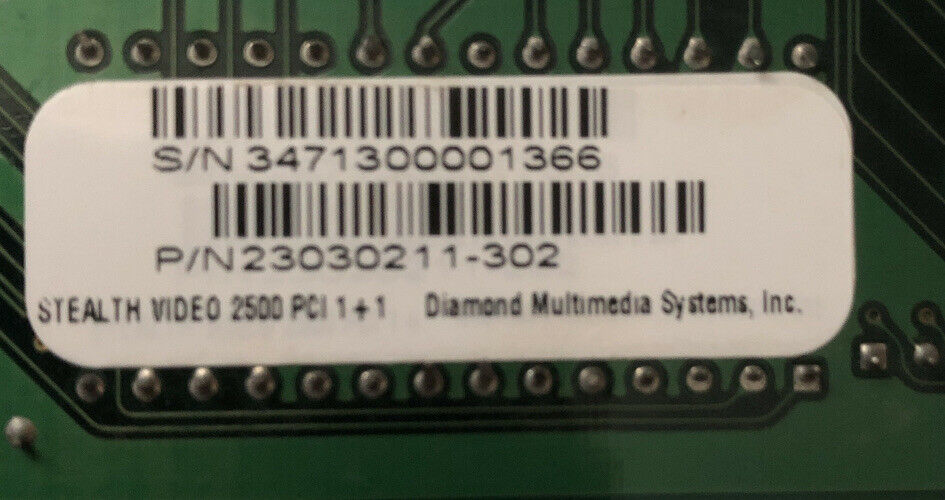 Diamond Stealth Video 2500 PCI Video Card 2MB VGA ProMotion aT24