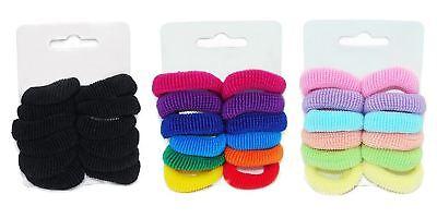 12 X Bambini Piccolo Capelli Elastici Ponios Snag Libero Infinito Vari Colori-mostra Il Titolo Originale Colore Veloce
