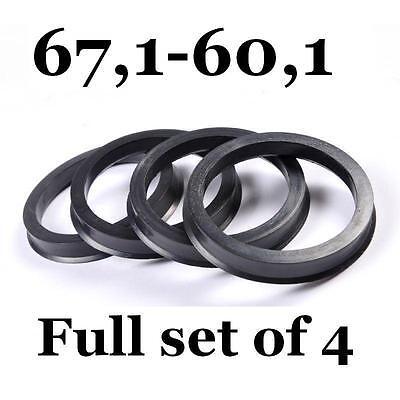 Full Set Of 4 FOUR Spigot Rings 67.1-63.4 Hub Rings SPIGOT RINGS
