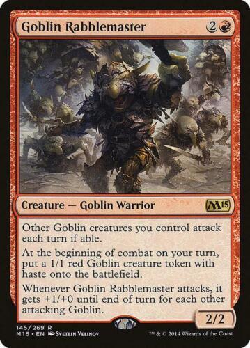 Goblin Rabblemaster Magic 2015 Rare EN NM MTG