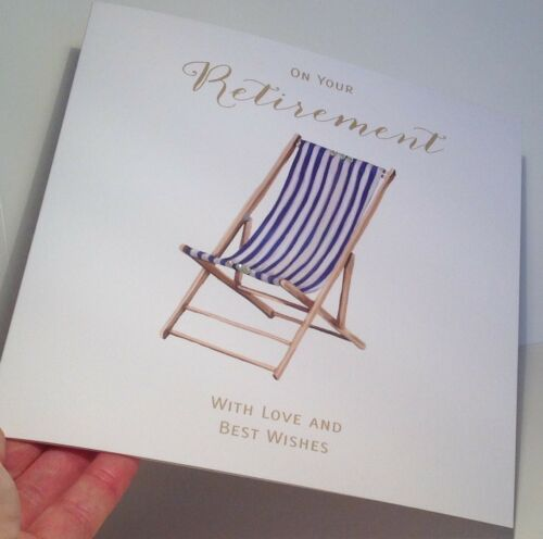 Deck Chair Mary Kirkham 8.25 x 8.25 Inches LARGE Retirement Card