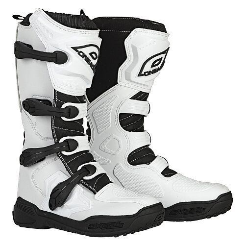 Make Offer! 2018 ONeal ELEMENT Off Road MotoCROSS Boot WHITE Size 12 FREE SHIP