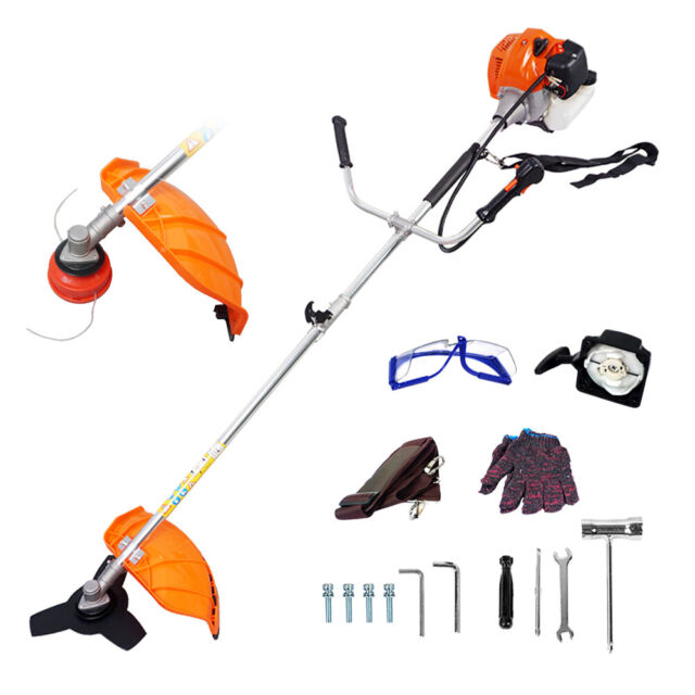 Gas Brush Cutter Trimmer 52cc Weed String Powered Lawn Grass w// Shoulder Strap