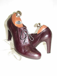 2f187b0c09ca0 Image is loading ROBERTO-DEL-CARLO-Leather-Brown-Oxford-Platform-Pumps-
