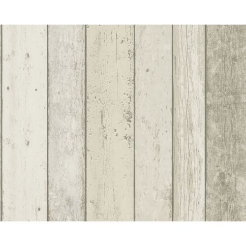 8951-10 NEW ENGLAND WOOD PANEL EFFECT WALLPAPER NATURAL A.S.CREATION NEW