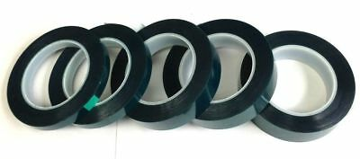 """Lot of Green High Temp Polyester Silicone Masking Tape Powder Coating 1-1//8/"""" 4"""