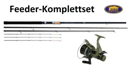 Lineaeffe Feeder-SET Infinity Feederrute + Freilaufrolle + Schnur 3,90m 180g Com
