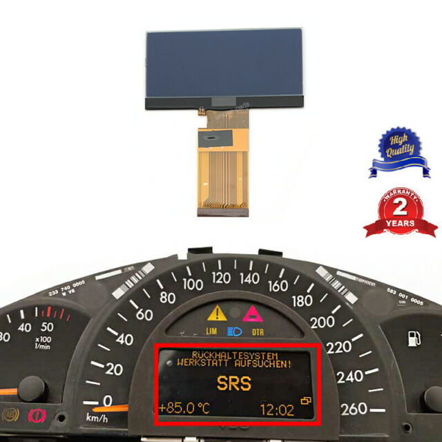 MERCEDES SPEEDOMETER CLUSTER CENTER GLASS LCD for ODOMETER DISPLAY W202 C-CLASS