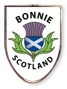 Scottish White Thistle Bonnie Scotland Shield Magnet Home Fridge Kitchen