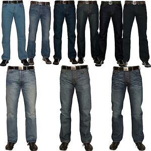 Levis-501-Denim-Herren-Jeans-Hose-viele-versch-Farben-blau-schwarz-black