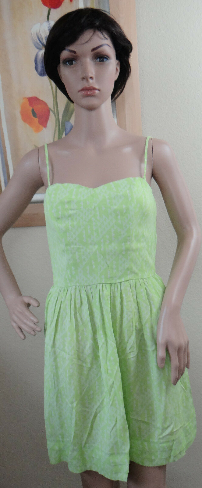 598299dfcf2 NWOT Genuine GREYLIN green strap or strapless corset like top S