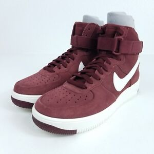 358ad1093e603 NIKE Air Force 1 Ultraforce HI Mens Sz 9.5 Shoes Dark Team Red ...