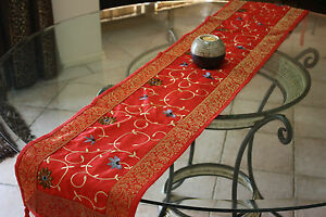 Image Is Loading Beautiful Indian Silk Sari Table Runners 30cm X