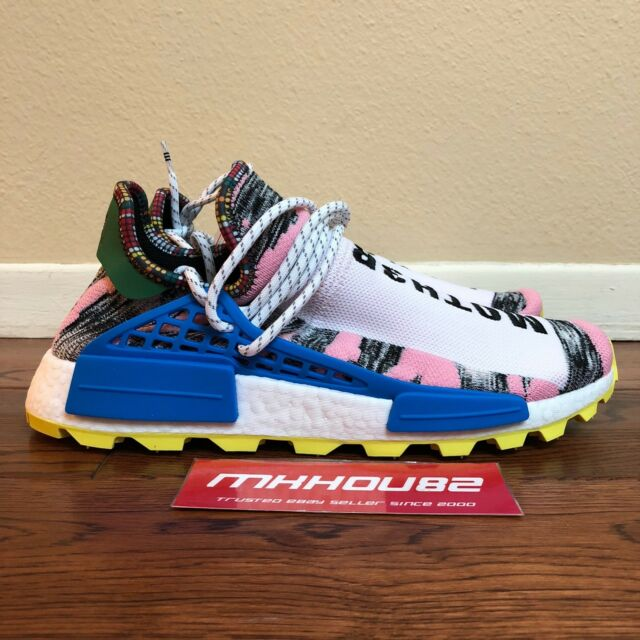 buy online ee1d6 97887 adidas Solar HU NMD Afro Pharrell Williams Red Black Shoes BB9531 Size 10.5