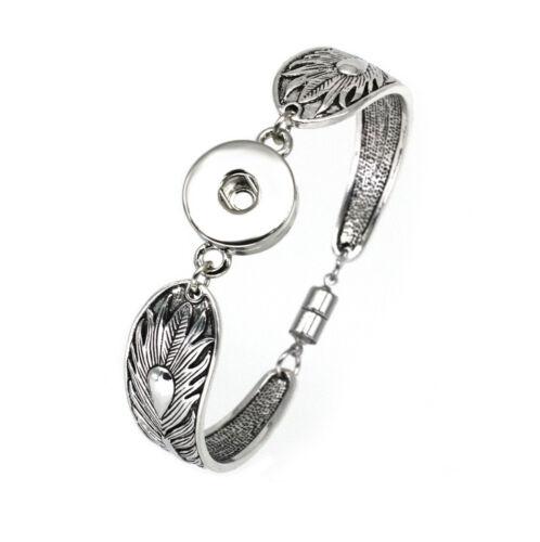 Femme Nouveau Bracelet Jonc Drill Snap Fit 18 mm Noosa Chunk Charm Bouton S06