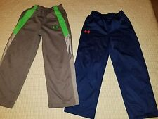 Lot Boys Kids Under Armour 2 pair of  Pants Size 6