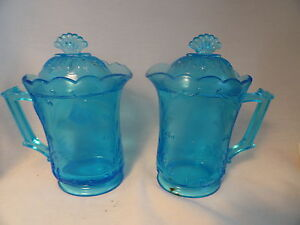 Persian-Blue-Pressed-Glass-Floral-Pattern-Lidded-Creamer-Syrup-Pitcher2
