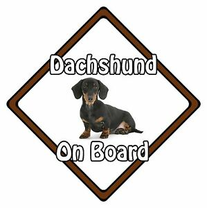 TYP1 Dachshund Dog on Board Sign Short-Haired Teckel Car Window Sticker