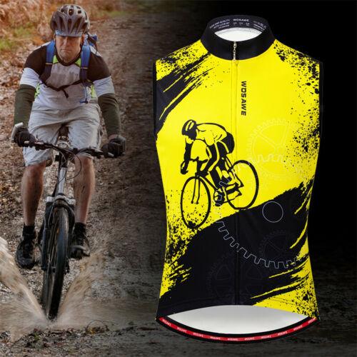Radsport Warnweste für Herren ärmellose reflektierende Fahrradweste,