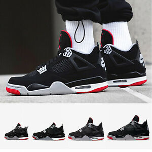size 40 39de0 ca7b2 Image is loading Nike-Air-Jordan-4-Retro-IV-Bred-2019-