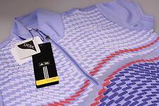 Funky Adidas Climalite Lycra Stretch Golf Polo Shirt Zip Neck Lilac Purple Sm 10