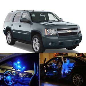 Blue LED Interior Lights Bulbs Package Kit For 2007-2014 Chevrolet Tahoe PZ
