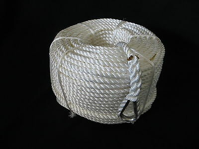 50MTRS X 20MM NYLON ANCHOR ROPE WITH STAINLESS STEEL THIMBLE