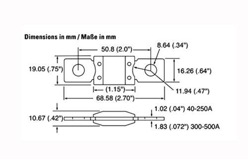 3pcs GENUINE LITTELFUSE MEGA FUSE 450A AMP FUSES DUAL BATTERY BATTERIES SYSTEM