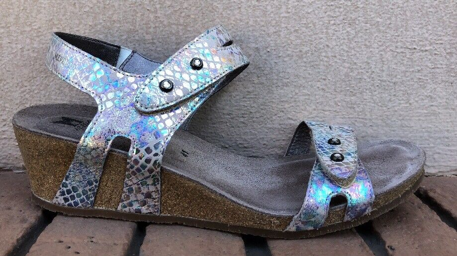Womens MEPHISTO 'MINOA'  Leather wedge sandals US 11 Excellent Condition
