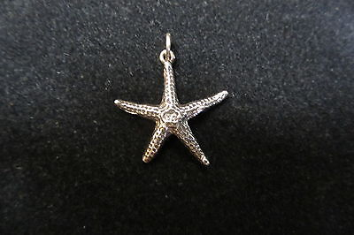 "Generous Sterling Silver Starfish Pendant With 18"" Sterling Chain Discounts Sale Precious Metal Without Stones Fine Jewelry"
