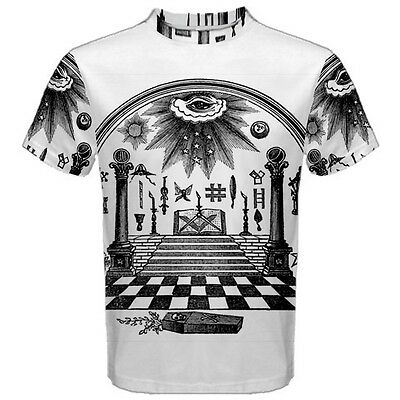 Freemason Masonic Eye Sublimated Sublimation T-Shirt S,M,L,XL,2XL