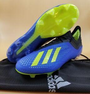 9b5ca7184f3eb Adidas X 18.1 FG Energy Mode CM8365 Men Soccer Cleats Blue Solar ...