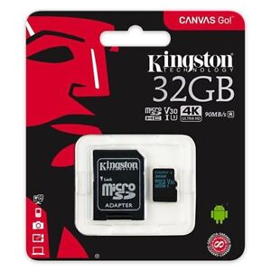 32GB-KINGSTON-Micro-SD-SDHC-Speicherkarte-fuer-Canon-PowerShot-SX410-Kamera