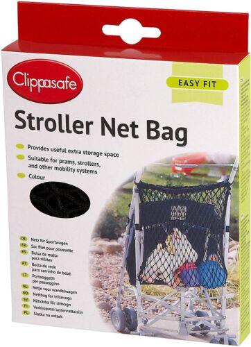 Clippasafe Stroller Net Sac Noir Poussette//Poussette//landau//Buggy Accessoire BN