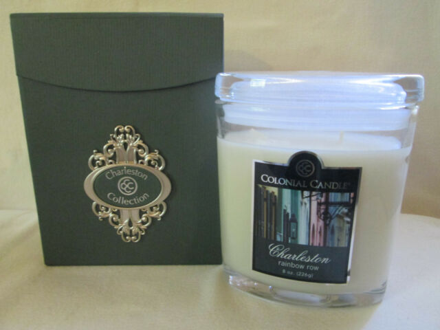 8 oz Colonial Candle  RAINBOW ROW  CHARLESTON  DOUBLE WICK OVAL JAR CANDLE